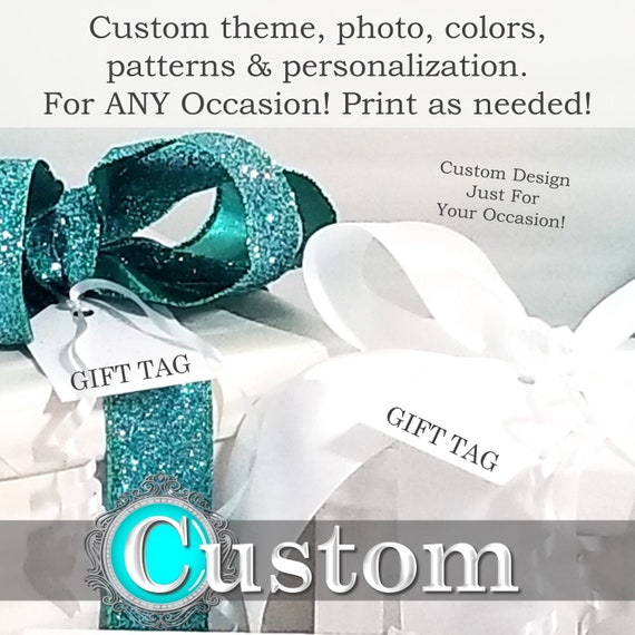 custom gift tags printable gift tags personalized gift tags