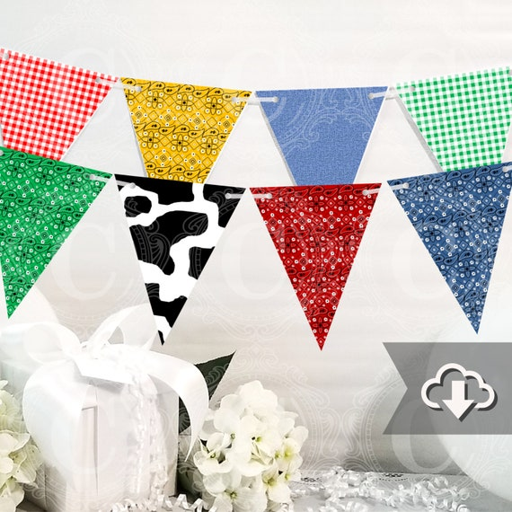 photograph about Printable Cow Pattern referred to as Farm Banner Printable, Children Farm Occasion Decor, Cow Print