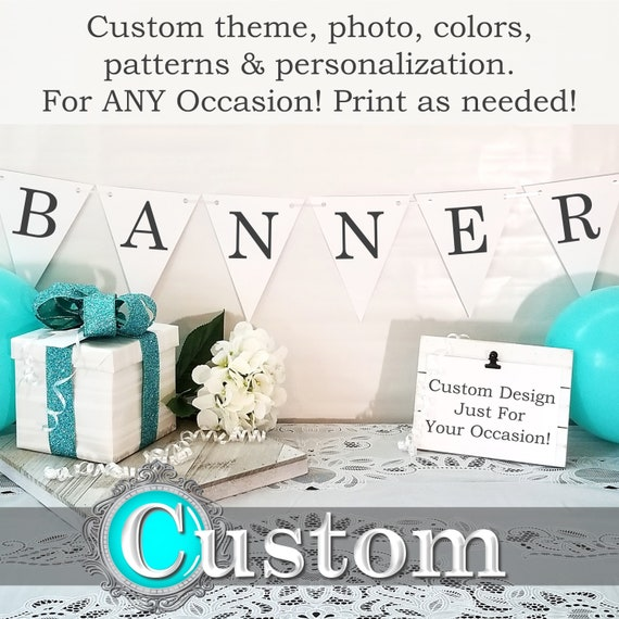 Custom Banner Printable Party Banner Personalized Banner