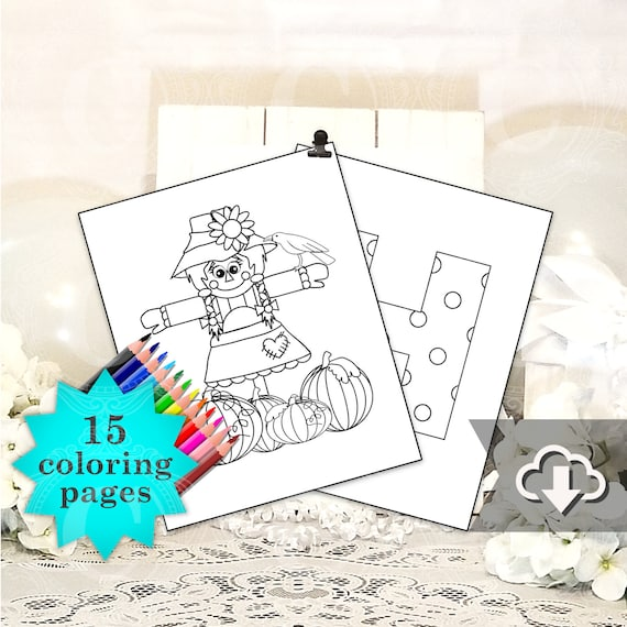 Halloween Coloring Pages Printable, 15 Halloween Alphabet ...