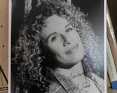 SIGNED Black and White Photograph of Carole King Signed To Barbara Carole King