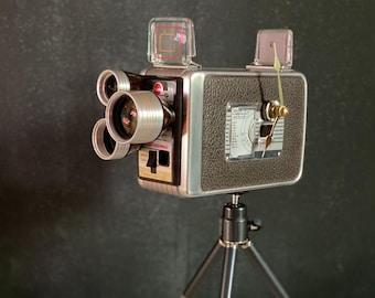 Vintage Camera Desk Clock, Photography Memorabilia, Mid Century Decor, Film Student Graduation Gift