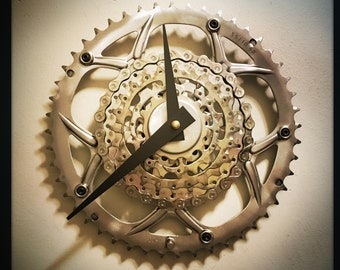 Bike Clock, Gift For Cyclist, Industrial Decor, Large Wall Clock, Bicycle Gear Clock For Wall