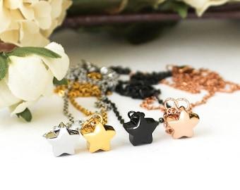 Mini Star Cremation Urn Necklace | Urn Jewelry | Ash Urn Necklace | Memorial Jewelry | Urn Necklace | Dainty Discreet Urn | Star Urn