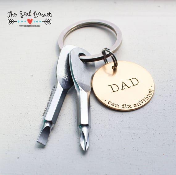 Fashion Hand Tools Keychain,Daddy Keyring Dad Gift Fathers Day Father Keycha OQ