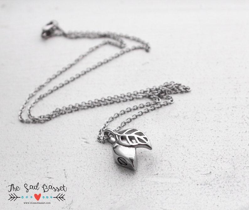 Leaf Urn Necklace Leaf Urn Jewelry Unique Cremains Pendant Memorial Pendant Nature Jewelry