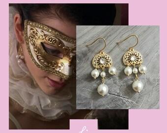 c48f543c54 The Tudors Anne Boleyn Inspired Filigree Earrings