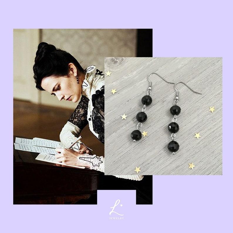 2976afa11 Penny Dreadful Vanessa Ives Black Pearls Earrings   Etsy