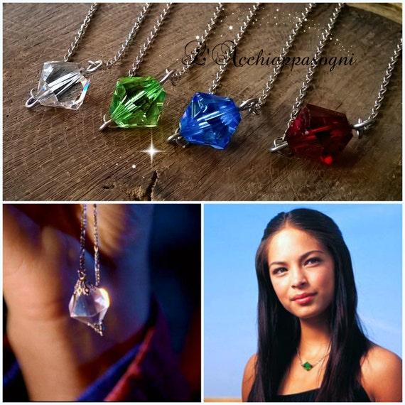 Smallville Lana Lang Kryptonite Necklace Swarovski Etsy