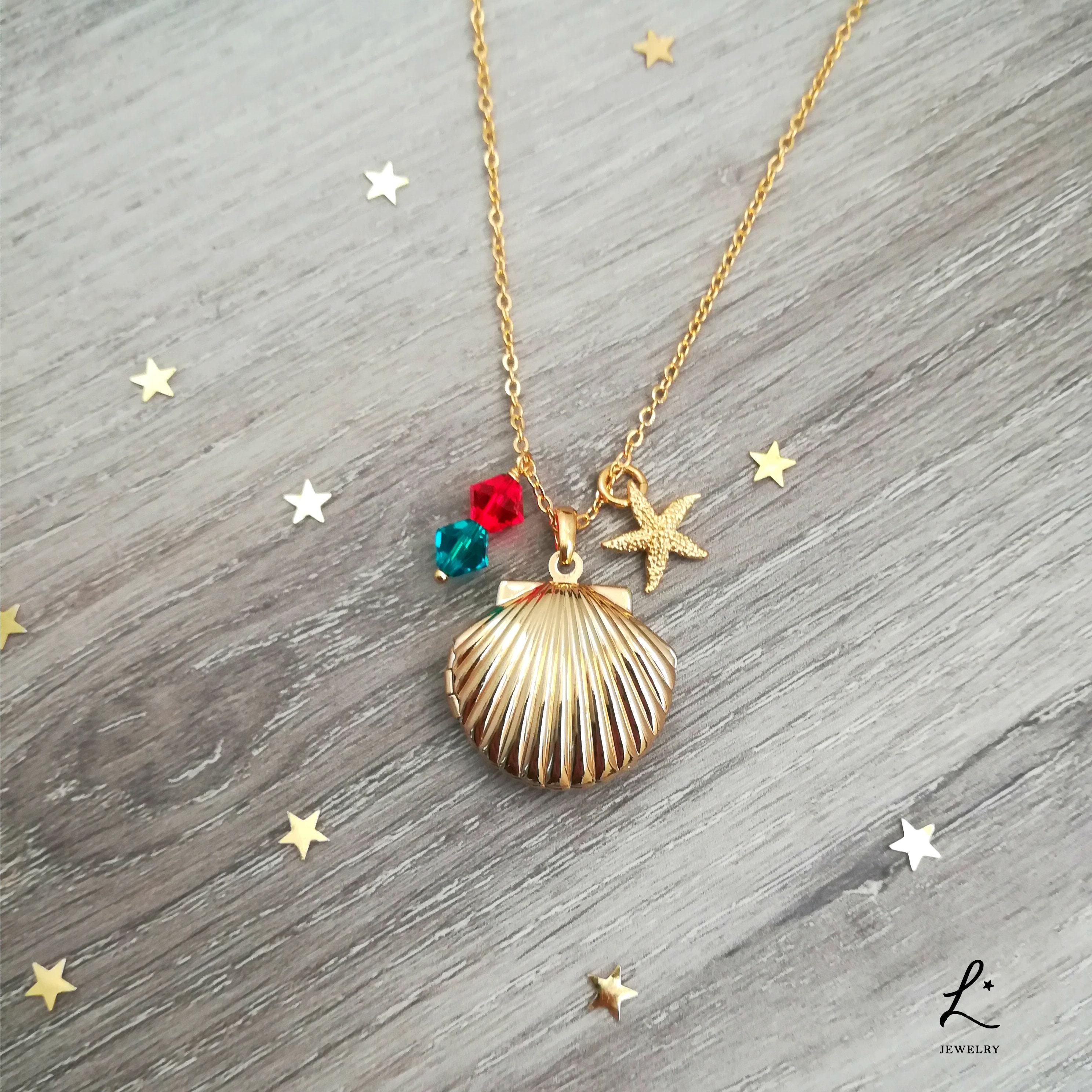 Make Your Own Seashell Jewelry: Little Mermaid Seashell Locket & Starfish Necklace