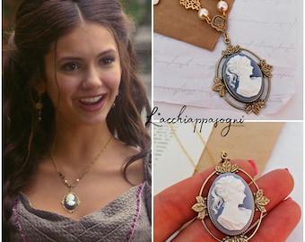 The Vampire Diaries Katherine Pierce cameo necklace