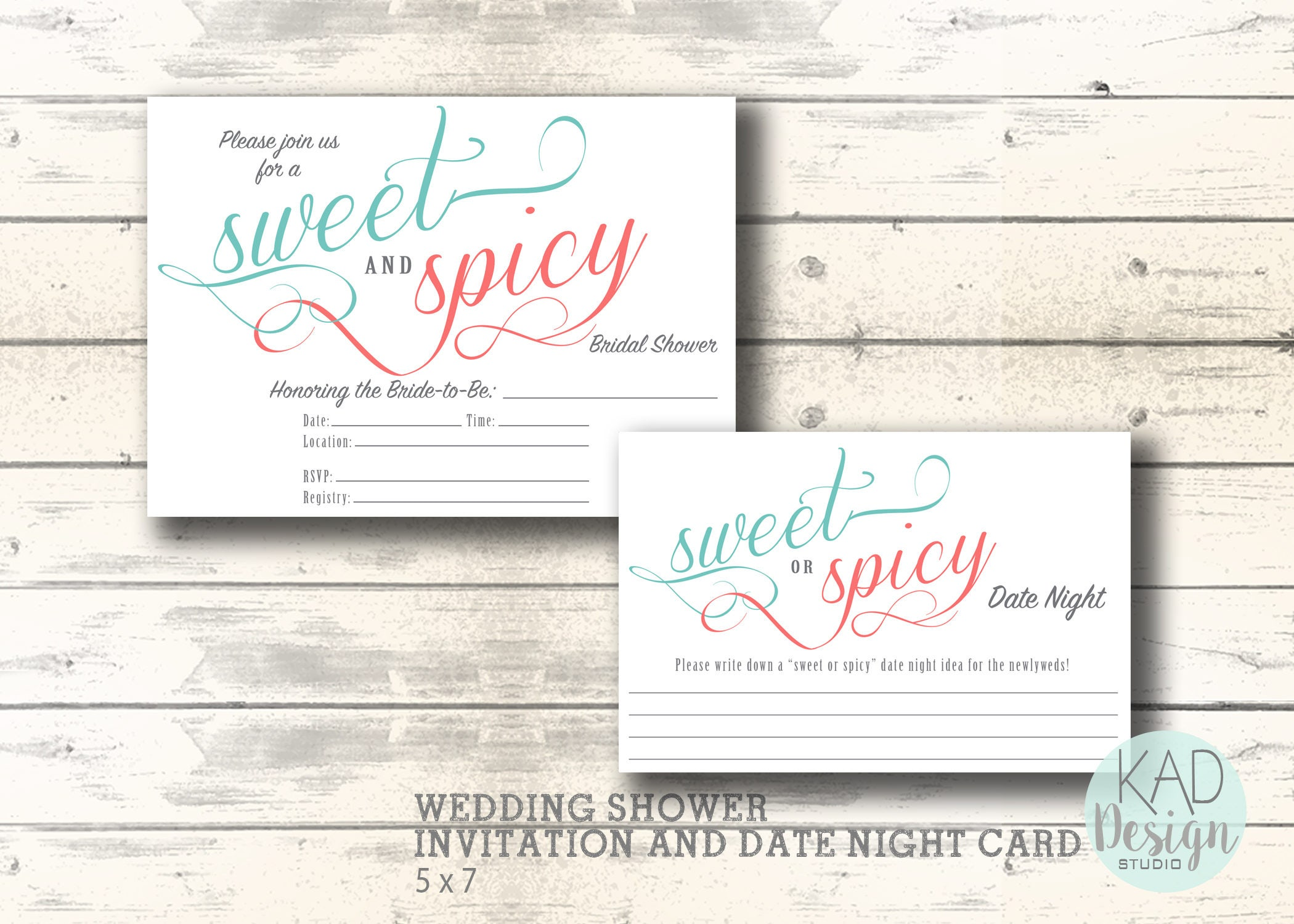 wedding shower invitation and date night card bridal shower invitation sweet and spicy shower invite printable invitation diy wedding