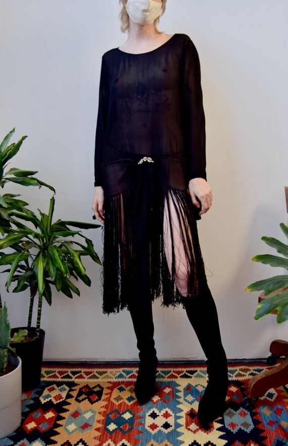 Vintage 1920's Fringe Flapper Dress - image 2