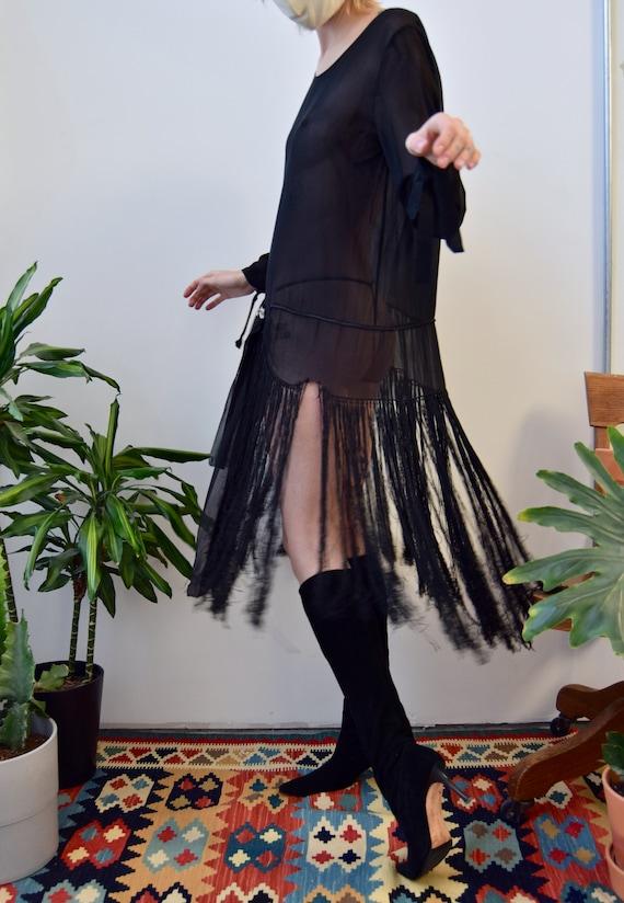 Vintage 1920's Fringe Flapper Dress - image 3