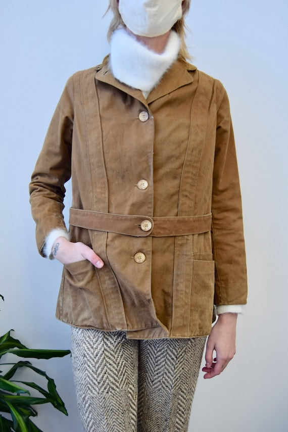 Vintage Antique Early 1900's Duxbak Canvas Jacket
