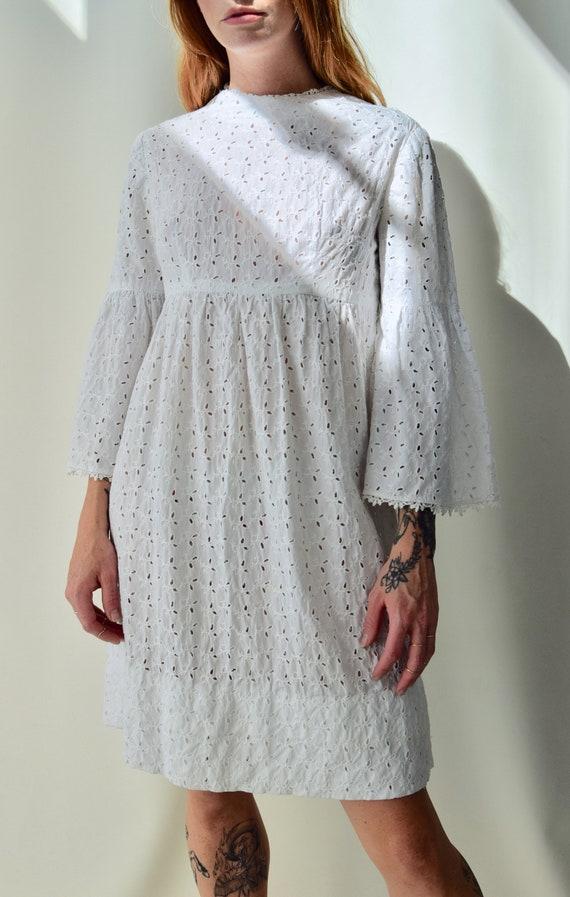 Vintage 60s Eyelet Babydoll Dress