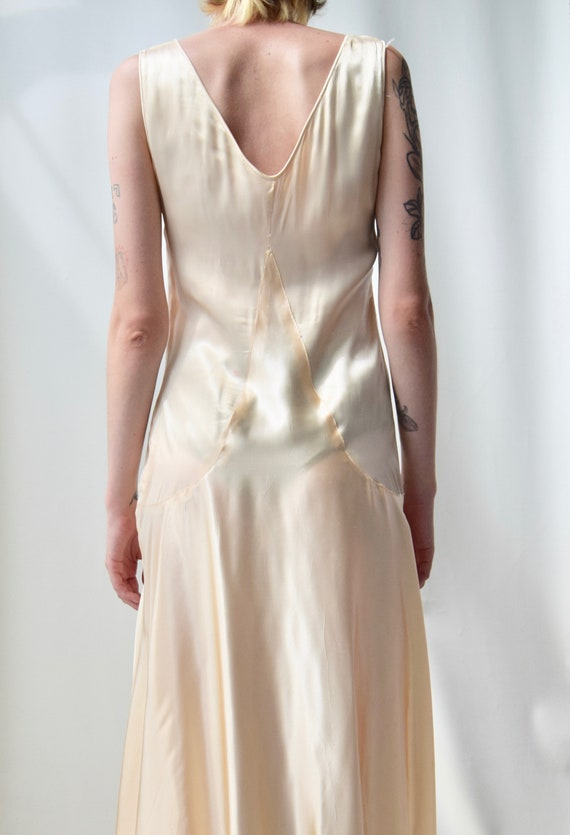 Vintage 1920s Gold Satin Slip Dress