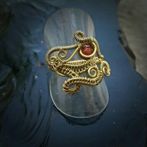 Ouroboros Ring Draht gewickelt Ouroboros Ring Viking Ring | Etsy