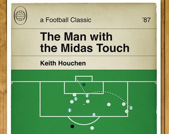 Football Print - Classic Book Cover Poster - Keith Houchen header for Coventry City v Spurs in the Cup Final 1987 Sky Blues (Various Sizes)
