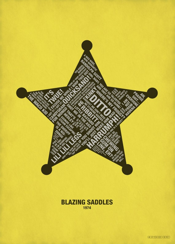 Humourous Quotes From Blazing Saddles Poster Movie Quotes Etsy