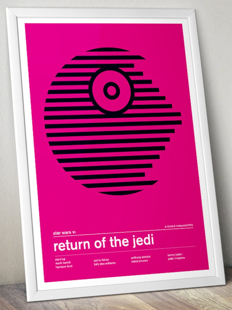 Star Wars - Return of the Jedi - Bright Alternative Swiss Style Poster -  (Various Sizes)