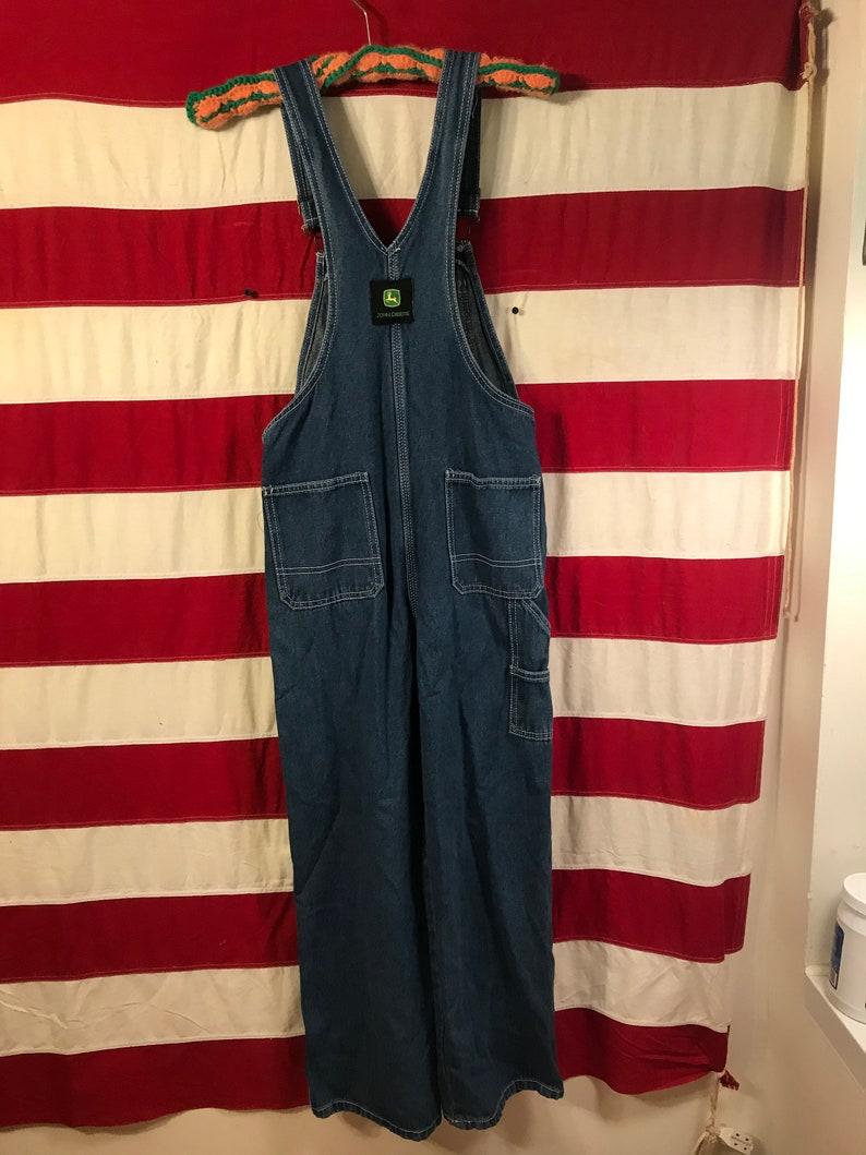 Vintage John Deere Blue Denim Bib Overalls 14 Reg