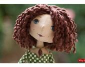 "Textil Doll for interior decoration -Mari and Nutcracker - 12.2"" OOAK"