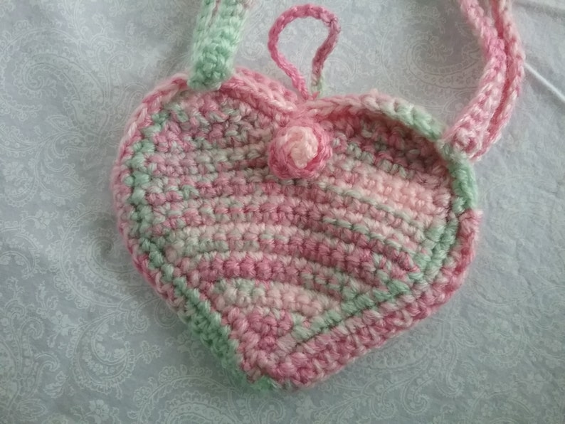 Pink and Green Heart Purse