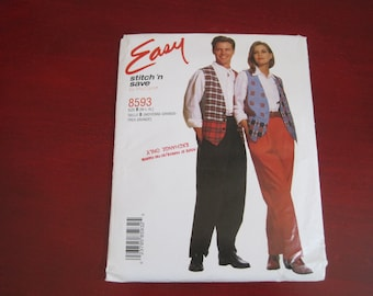 Vintage McCall's, Sewing Pattern, Easy Stitch 'n Save Pattern 8593, Retro Womens Clothing