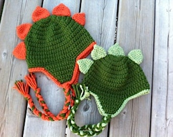 Dinosaur Hat Crochet Pattern - Newborn - Toddler - Child - Adult with  optional heart 330598ea5d8
