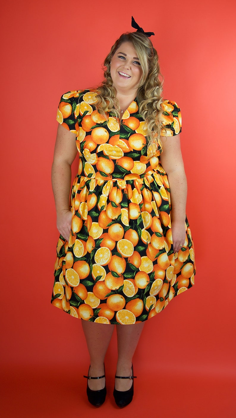 Plus Size Dress Orange Dress Plus Size Oranges Dress Plus | Etsy
