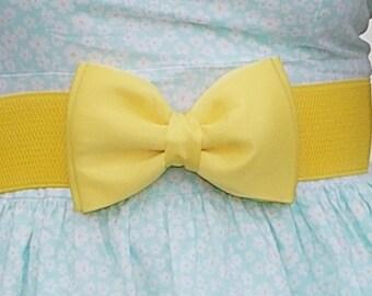 Yellow Bow Belt