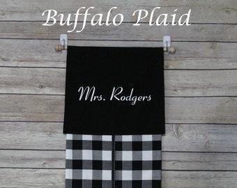 Buffalo Plaid--Classroom Door Safety Curtain--Lockdown Shade