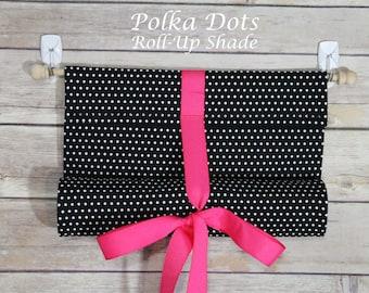 Polka Dots--Classroom Door Safety Curtain--Roll-Up Shade