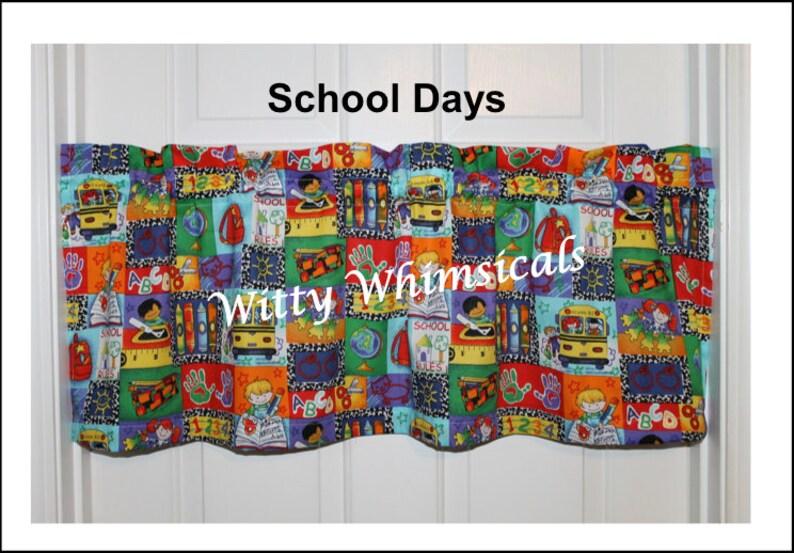 Valance--School Days--Dinosaurs Roar!--Robots--Owls /& Flowers