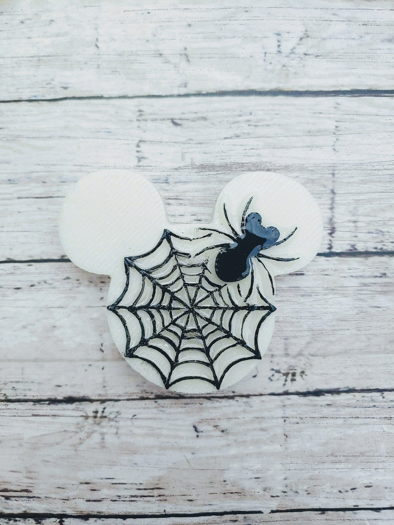 Spider Mouse Head Glow in the Dark Phone Grip