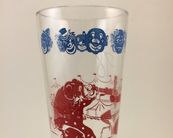 Circus glass strongman monkeys clowns elephants big top circus carnival Drinking