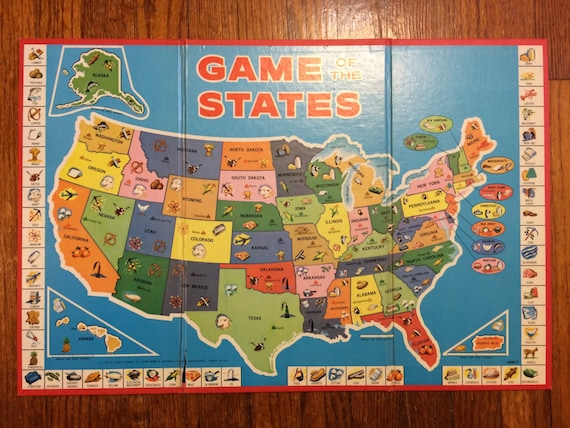 United States Map game board only USA cartoon map States with exports  illustrations