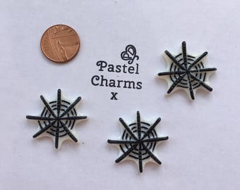 Pack of 3 halloween spider web embellishments