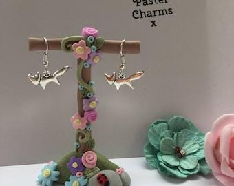 Fox woodland earrings, with gift box  x