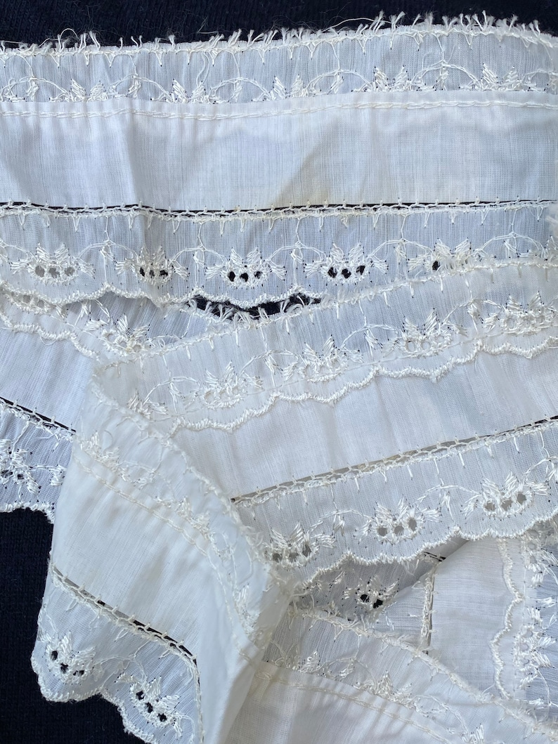Embroidered Lace Dress Trim Free Ship