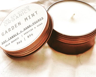 3 oz  Garden Mint Soy Candle