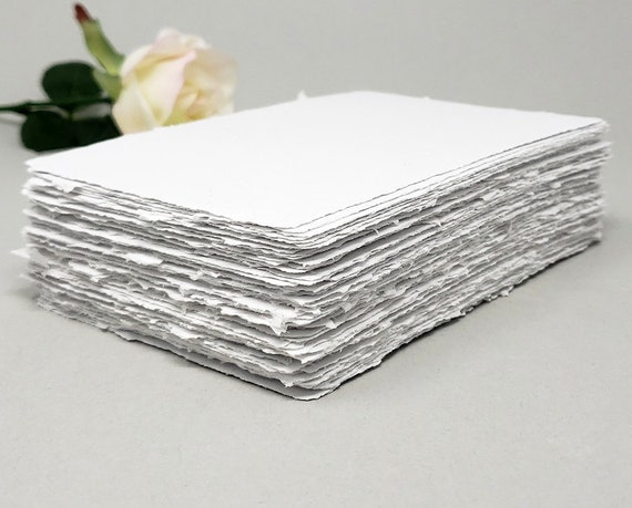 """10 Sheets Gray Card Stock 26/""""x40/"""" Deckle Edge 65# Cards//Stamping//Drawing Paper"""