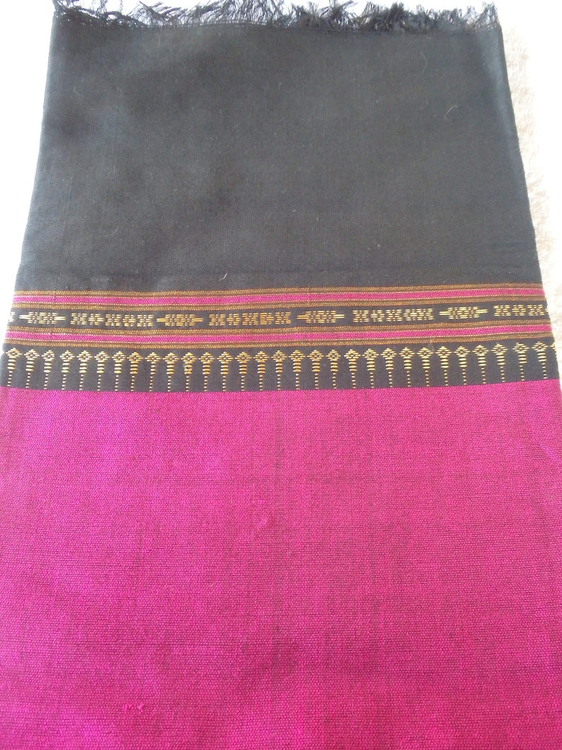 Pink in colour Traditional Laos style Cotton and silk blend Sinh tube skirtwrap around skirtsarong