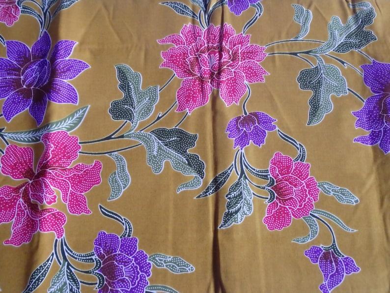 Pure batik cotton with large patterns