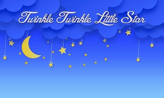 Twinkle Twinkle Little Star Themed Party Backdrop Instant
