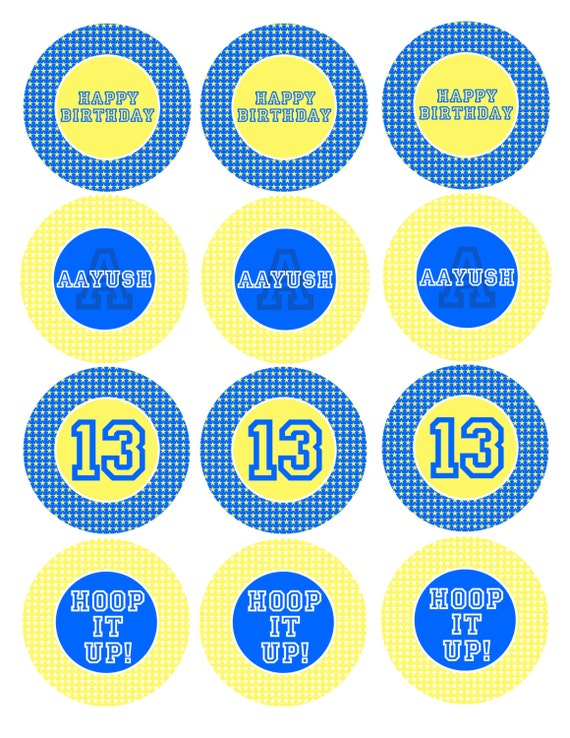 graphic about Warriors Schedule Printable called Printable Golden Region Warriors Cup Cake Toppers Mounted - 2.5