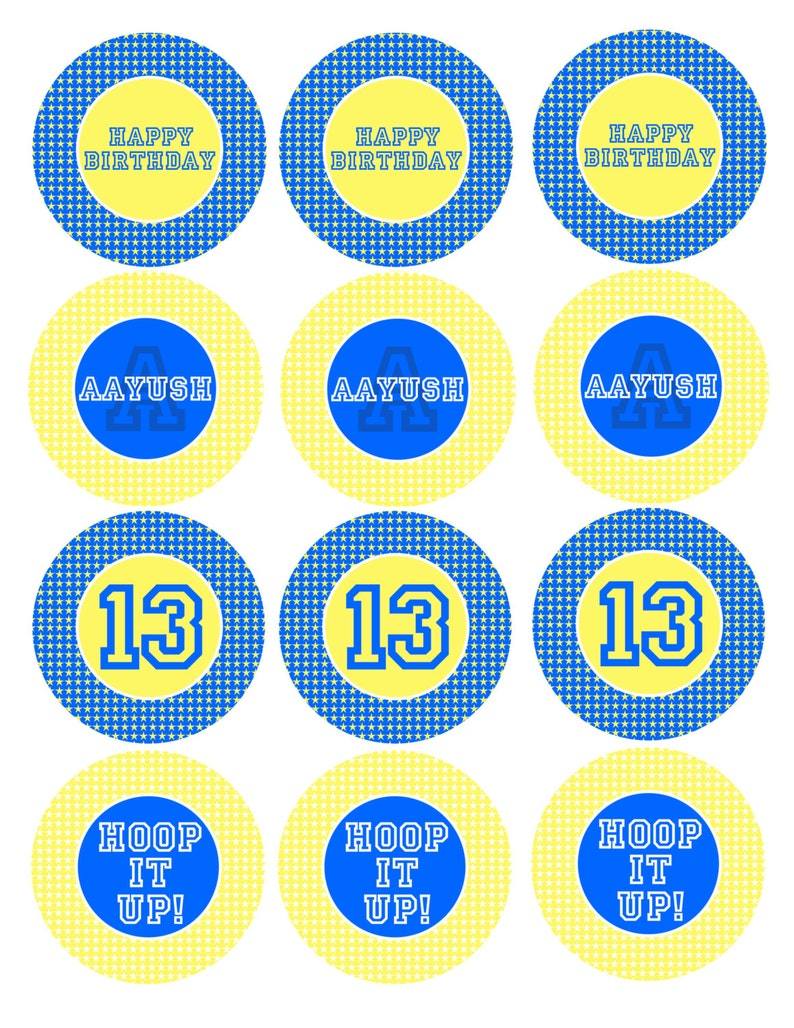 image regarding Golden State Warriors Printable Schedule named Printable Golden Nation Warriors Cup Cake Toppers Mounted - 2.5inch