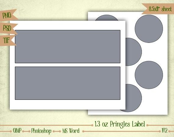 1 3 Oz Mini Pringles Labels Digital Collage Layered