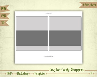 Candy Bar Wrappers - Digital Collage Layered Template - (T014)